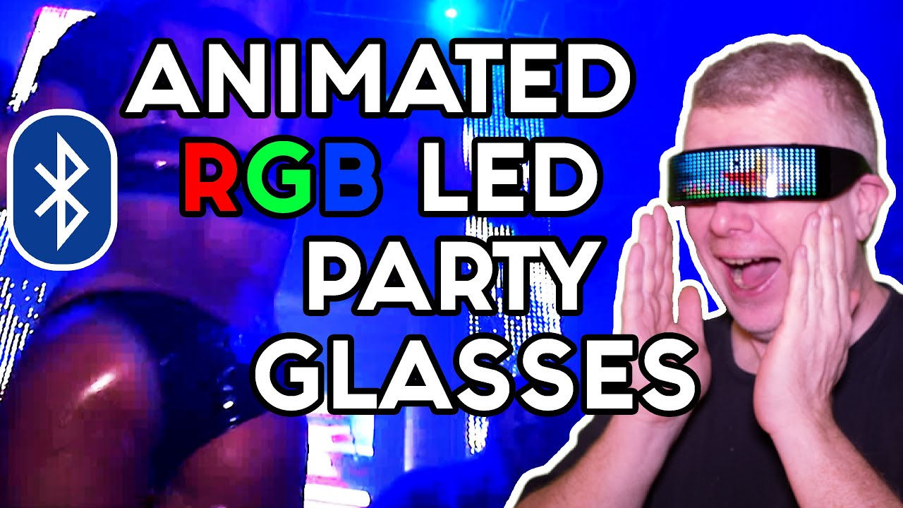 Be the center of attention with these LED animated Bluetooth glasses