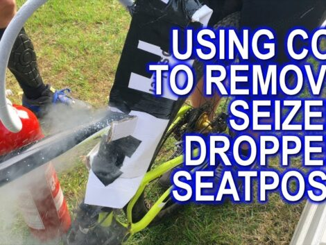 Using-Co2-from-fire-extinguisher-to-remove-seized-seat-post-by-freezing-it