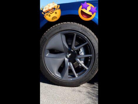 Cruising-in-style-Tesla-Aero-Wheel-kit-2.0-shorts